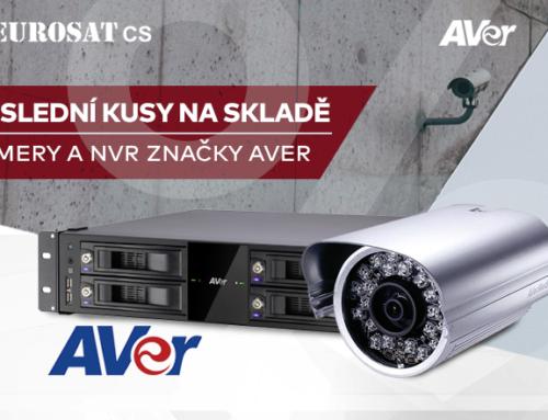 Poslední kusy NVR a kamer značky Aver