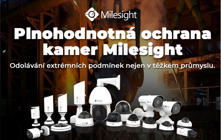 ochrana kamer Milesight CCTV bezpečnostní technologie jednička na trhu