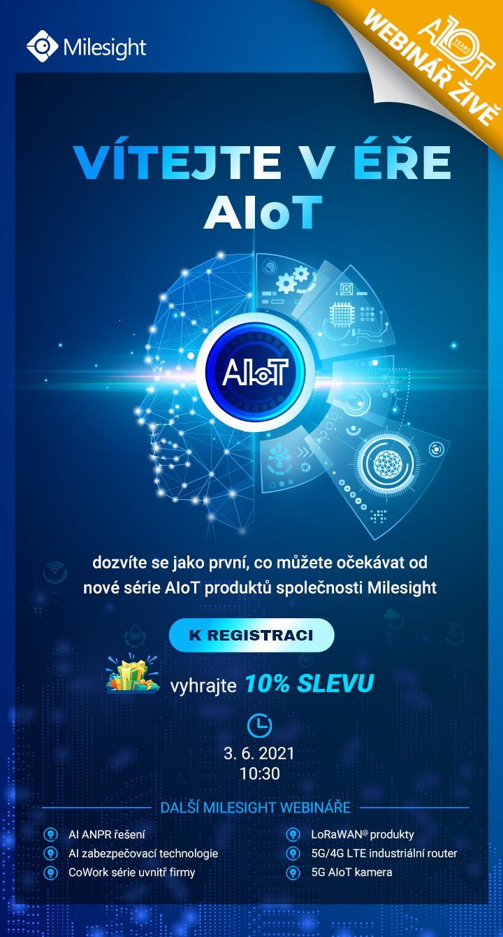 Milesight webináře webinar Milesight AIoT IoT Internet of things internet věcí Eurosat CS Brno Praha česká republika zabezpečovací technologie školení semináře CCTV