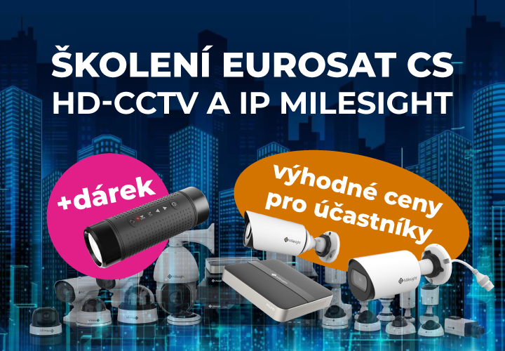 Školení Eurosat CS po celé České republice CCTV kamery
