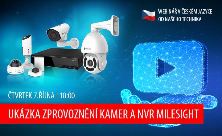 Webinář - Ukázka zprovoznění kamer a NVR Milesight