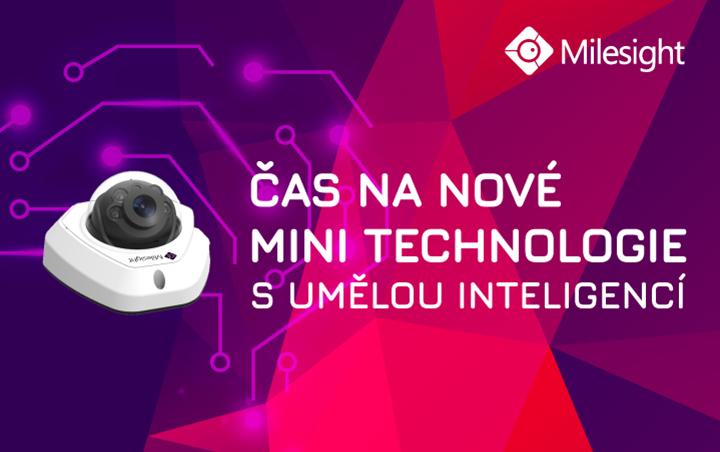 AI mini kamery Milesight nové technologie