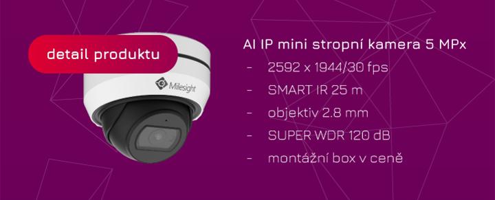 mini IP kamera s umělou inteligencí Eurosat CS Milesight