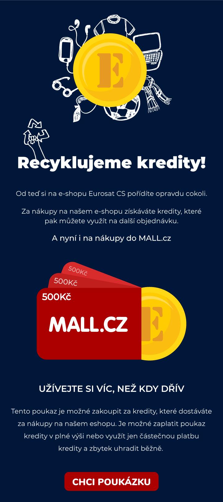 poukaz do internetového obchodu MALL.cz za kredity na e-shopu Eurosat CS zabezpečovací technologie kamery hlídání objektů bezpečnost do firmy, detektory, elektronika, GPS jednotky, docházkový systém, on-line kniha jízd